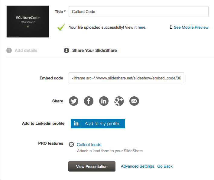 New Feature: Add Your SlideShares to Your LinkedIn Profile