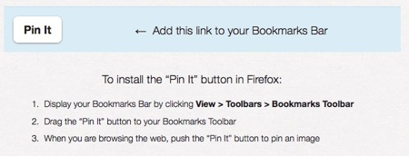 how to put pinterest button on toolbar