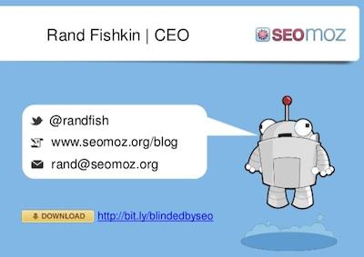 Rand Fishkin SEOmoz