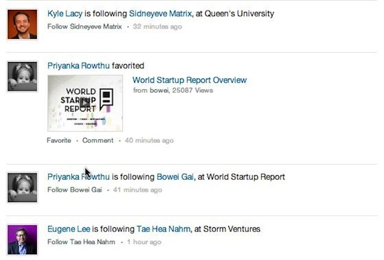 SlideShare newsfeed